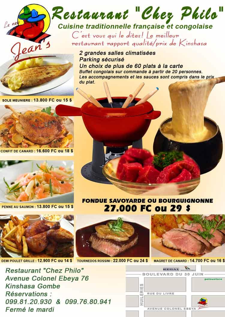 Menus Restaurant St Prix